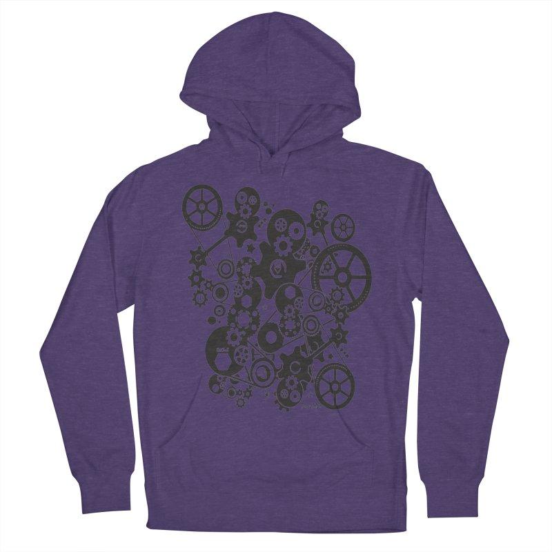 Doomfellaz Steampunk Gears (dark) Men's Pullover Hoody by Ricksans's Artist Shop