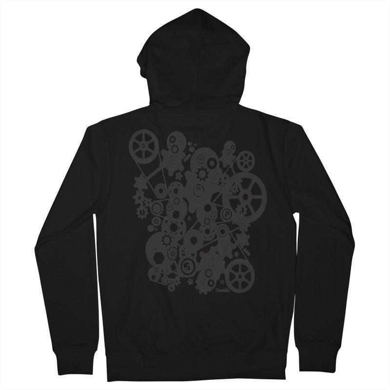 Doomfellaz Steampunk Gears (dark) Women's Zip-Up Hoody by Ricksans's Artist Shop