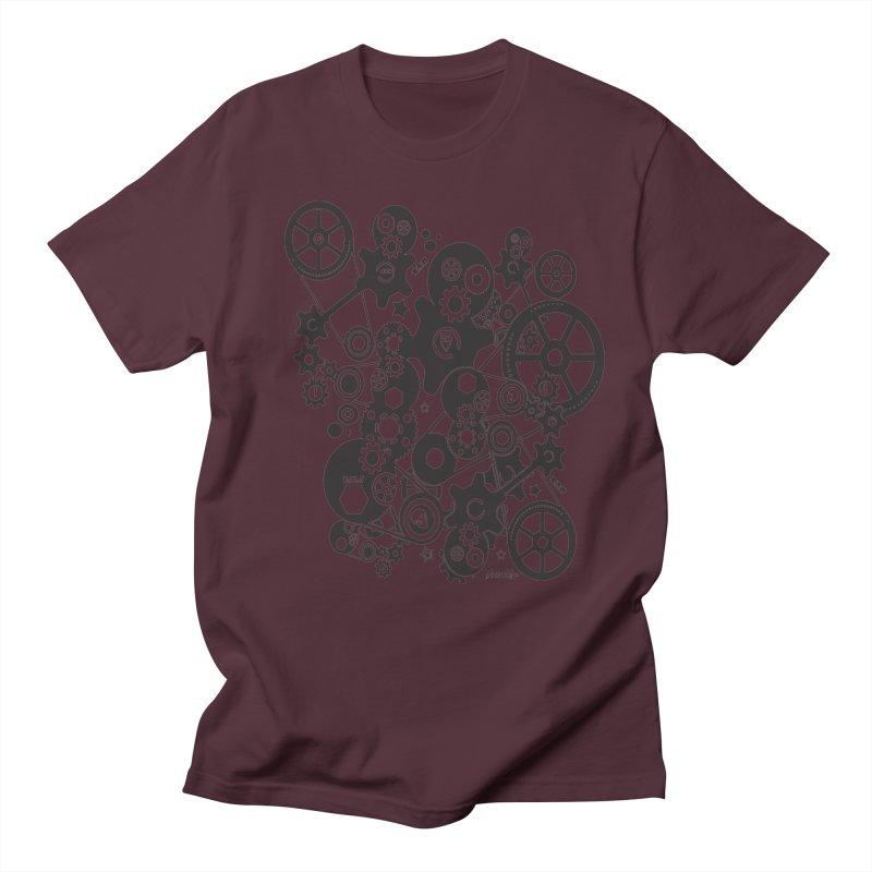 Doomfellaz Steampunk Gears (dark) Men's T-shirt by Ricksans's Artist Shop