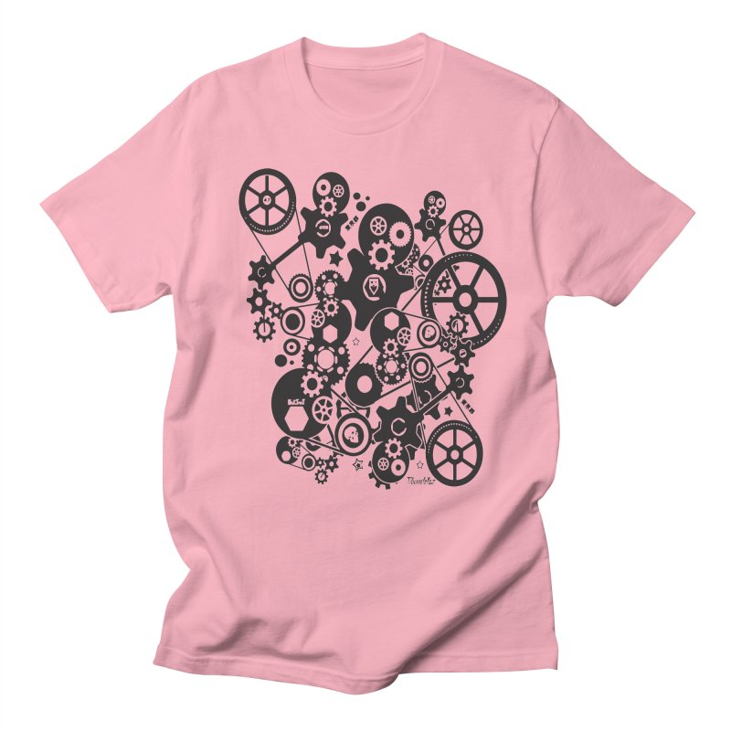 Doomfellaz Steampunk Gears (dark) Men's T-shirt by Ricksans's Artist Shop