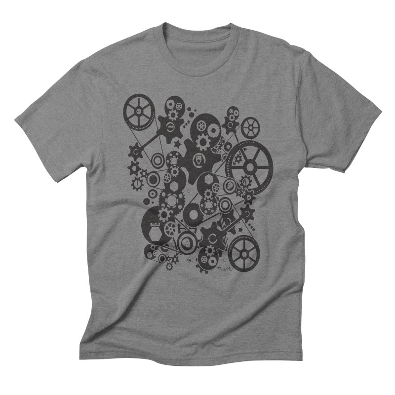 Doomfellaz Steampunk Gears (dark) Men's Triblend T-shirt by Ricksans's Artist Shop