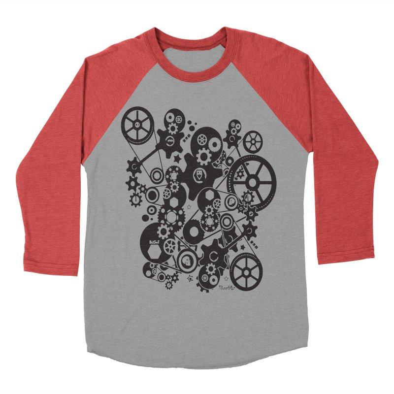 Doomfellaz Steampunk Gears (dark) Men's Baseball Triblend T-Shirt by Ricksans's Artist Shop