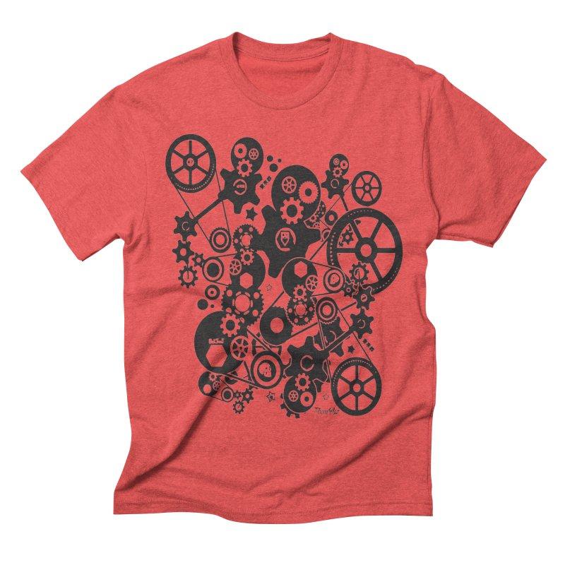 Doomfellaz Steampunk Gears (dark) Men's Triblend T-shirt by Ricksans's Artist Shop