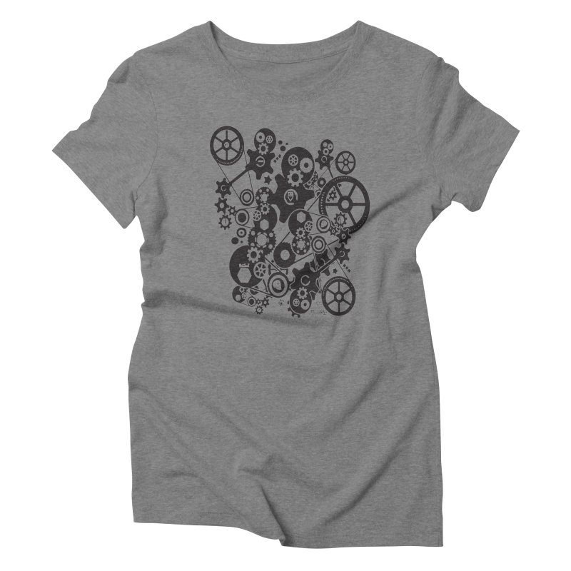 Doomfellaz Steampunk Gears (dark) Women's Triblend T-shirt by Ricksans's Artist Shop