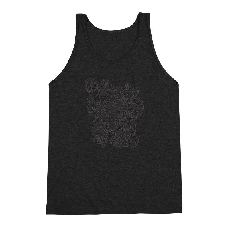 Doomfellaz Steampunk Gears (dark) Men's Triblend Tank by Ricksans's Artist Shop