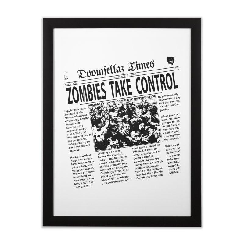 Doomfellaz Zombie Newspaper Home Framed Fine Art Print by Ricksans's Artist Shop