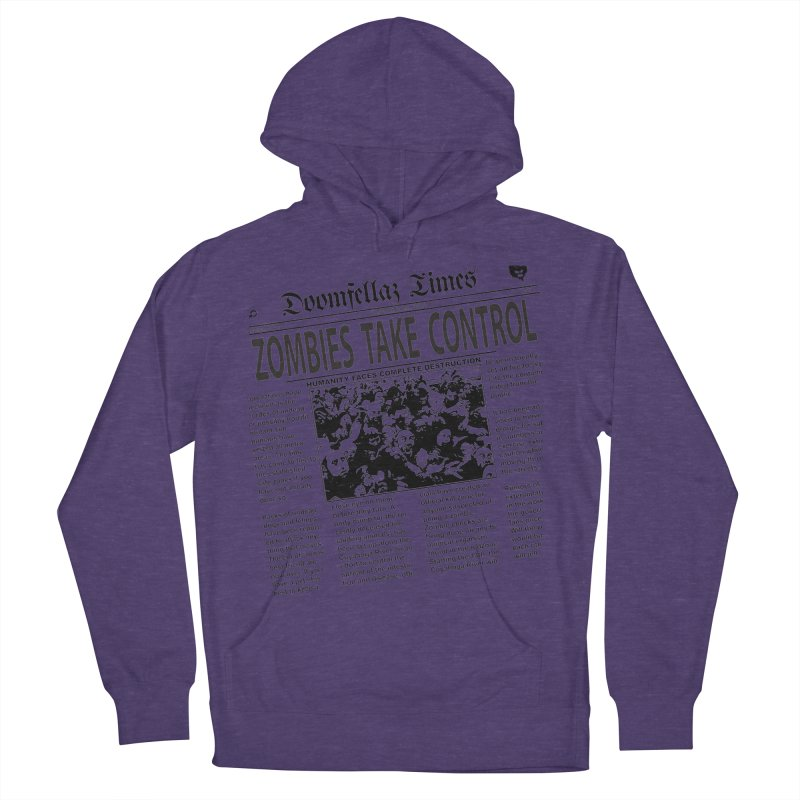 Doomfellaz Zombie Newspaper Men's Pullover Hoody by Ricksans's Artist Shop