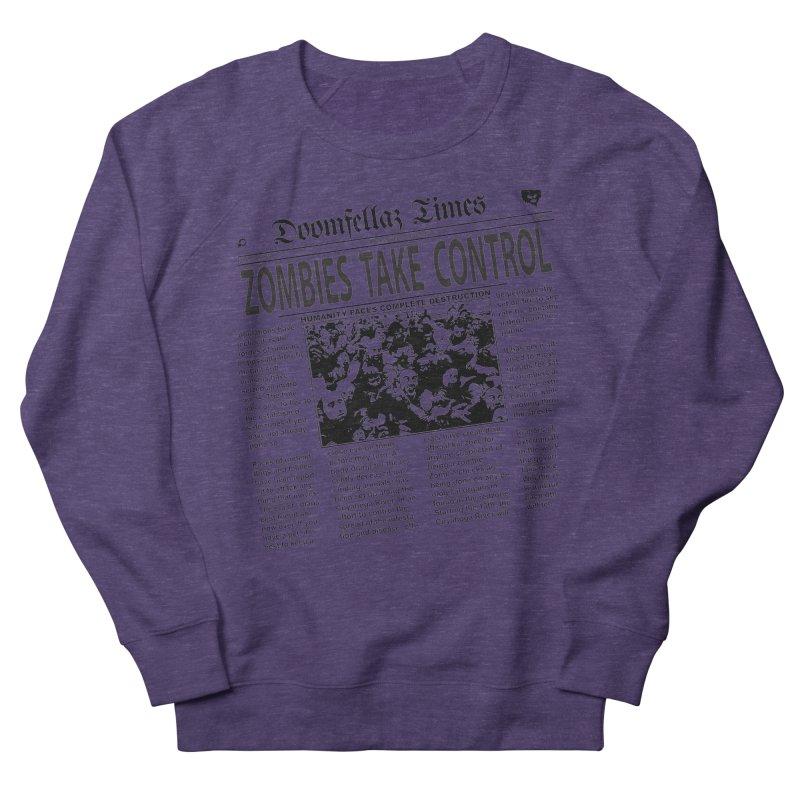 Doomfellaz Zombie Newspaper Women's Sweatshirt by Ricksans's Artist Shop
