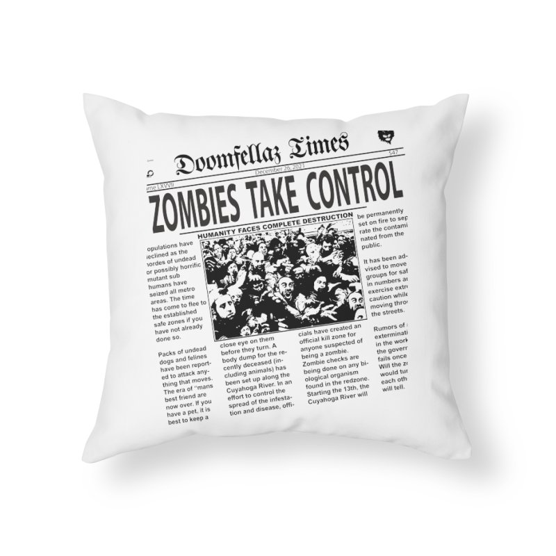 Doomfellaz Zombie Newspaper   by Ricksans's Artist Shop