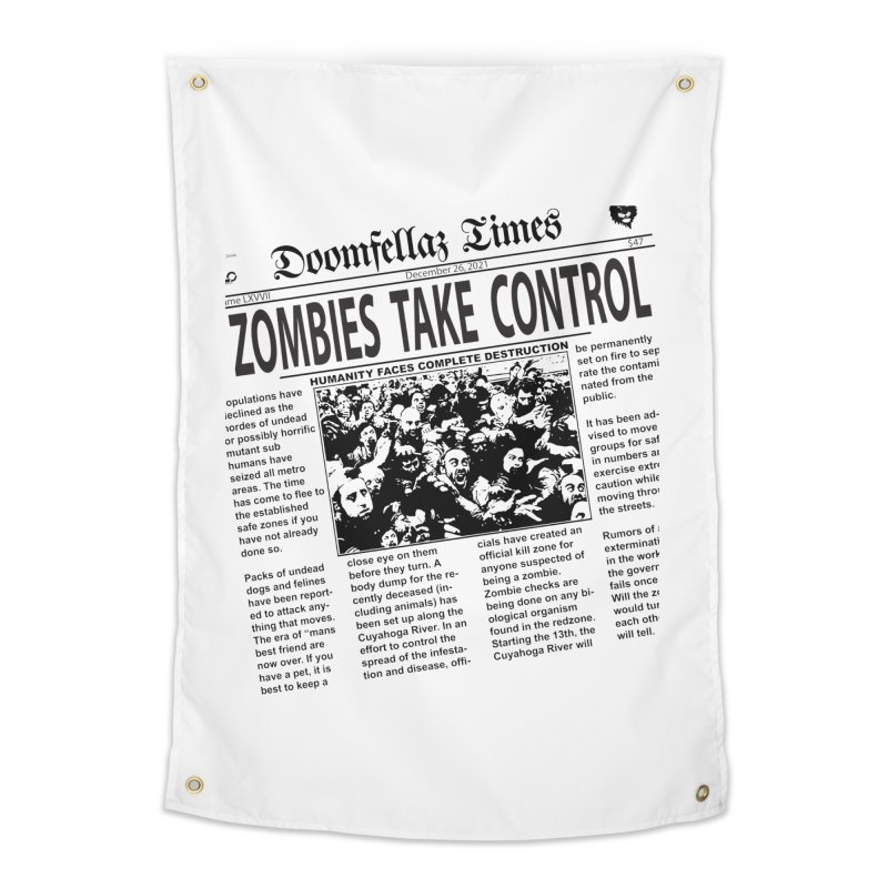 Doomfellaz Zombie Newspaper Home Tapestry by Ricksans's Artist Shop