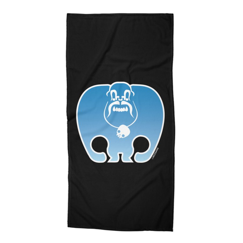 SkullSquach by Rick Sans Accessories Beach Towel by Rick Sans' Artist Shop