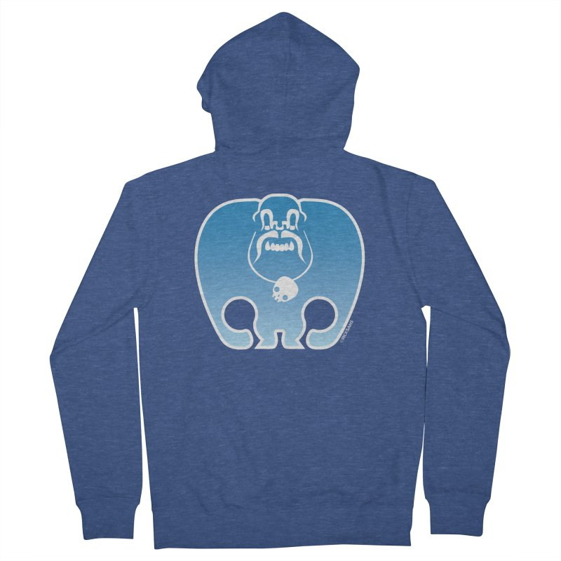 SkullSquach by Rick Sans Men's French Terry Zip-Up Hoody by Rick Sans' Artist Shop