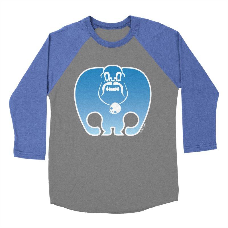 SkullSquach by Rick Sans Women's Baseball Triblend Longsleeve T-Shirt by Rick Sans' Artist Shop