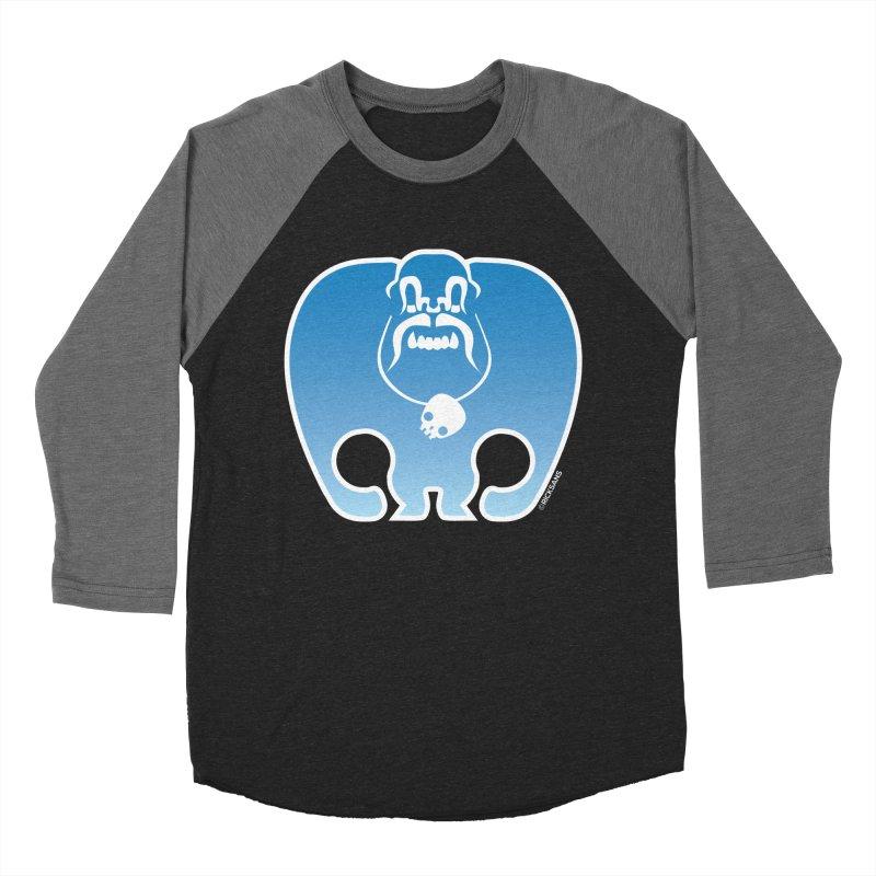 SkullSquach by Rick Sans Men's Baseball Triblend Longsleeve T-Shirt by Rick Sans' Artist Shop