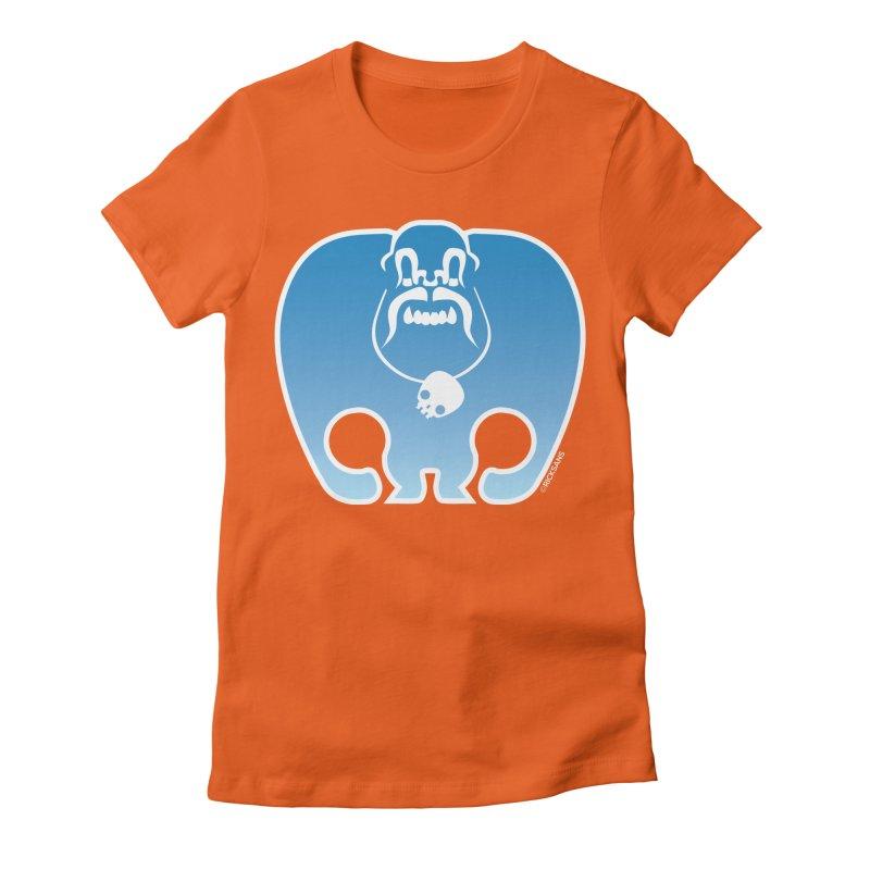 SkullSquach by Rick Sans Women's Fitted T-Shirt by Ricksans's Artist Shop