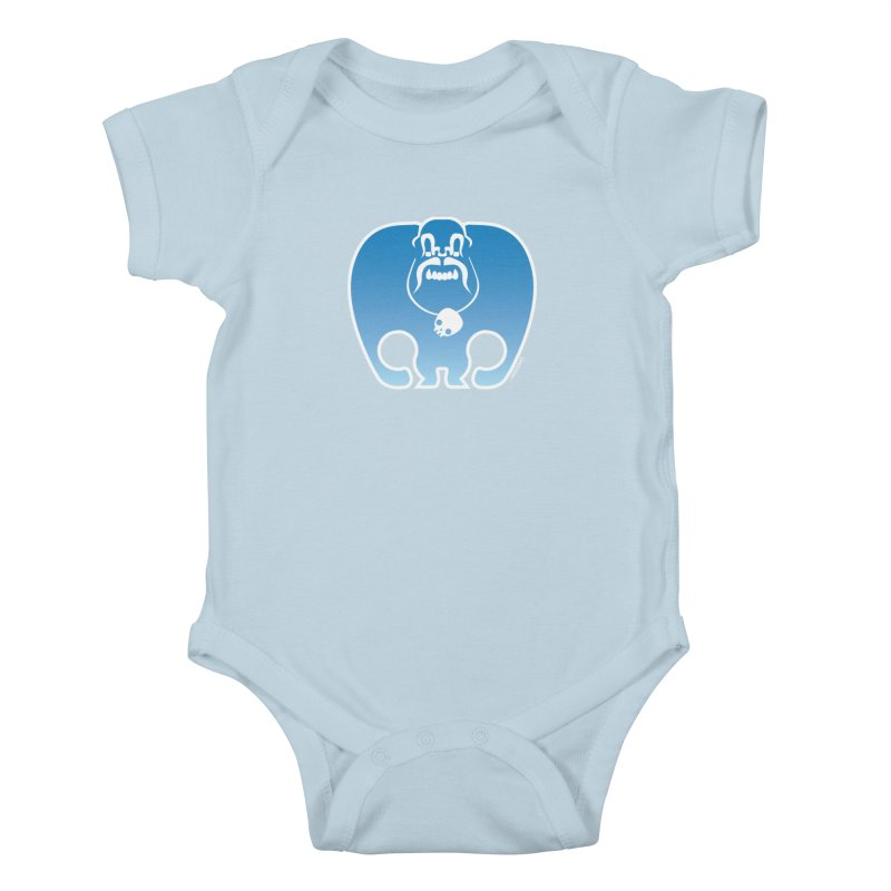 SkullSquach by Rick Sans Kids Baby Bodysuit by Ricksans's Artist Shop