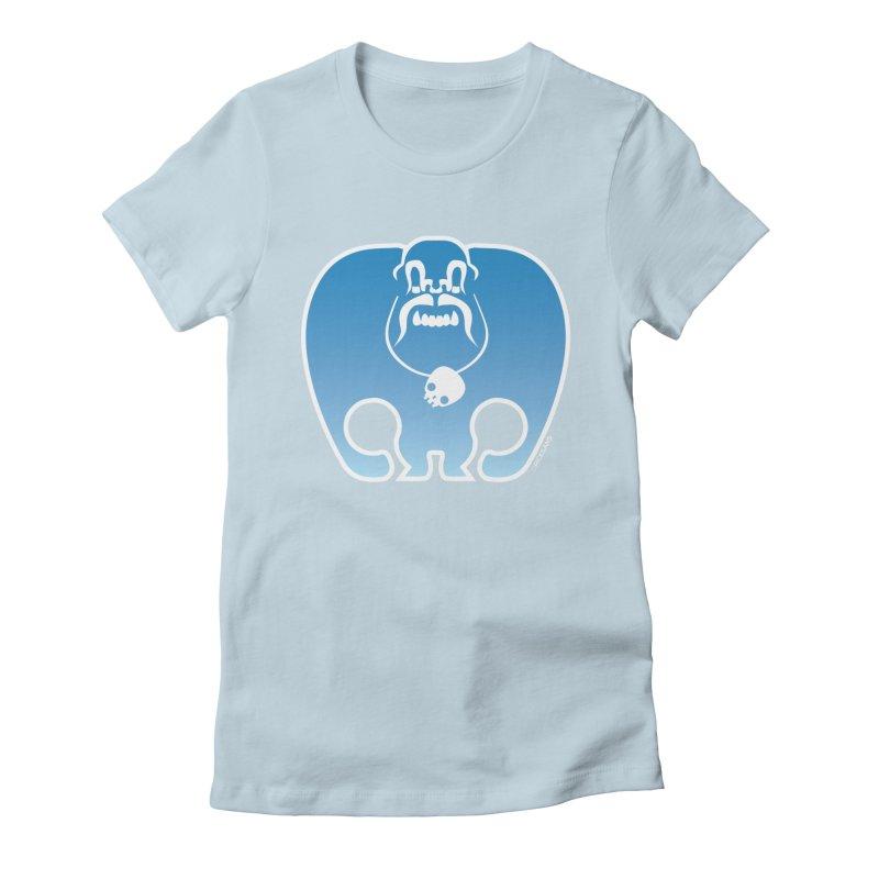 SkullSquach by Rick Sans Women's Fitted T-Shirt by Rick Sans' Artist Shop