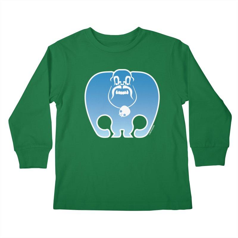 SkullSquach by Rick Sans Kids Longsleeve T-Shirt by Rick Sans' Artist Shop