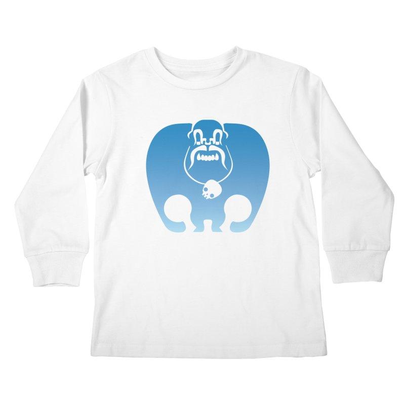 SkullSquach by Rick Sans Kids Longsleeve T-Shirt by Ricksans's Artist Shop