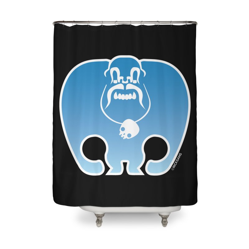 SkullSquach by Rick Sans Home Shower Curtain by Ricksans's Artist Shop