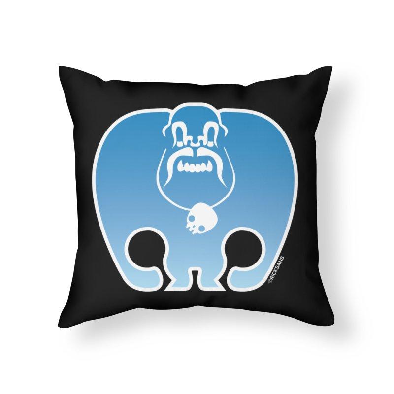 SkullSquach by Rick Sans Home Throw Pillow by Ricksans's Artist Shop