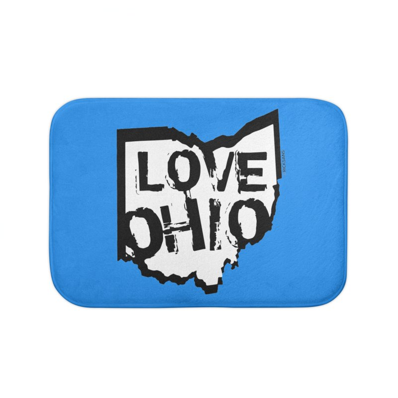 Love Ohio Home Bath Mat by Rick Sans' Artist Shop
