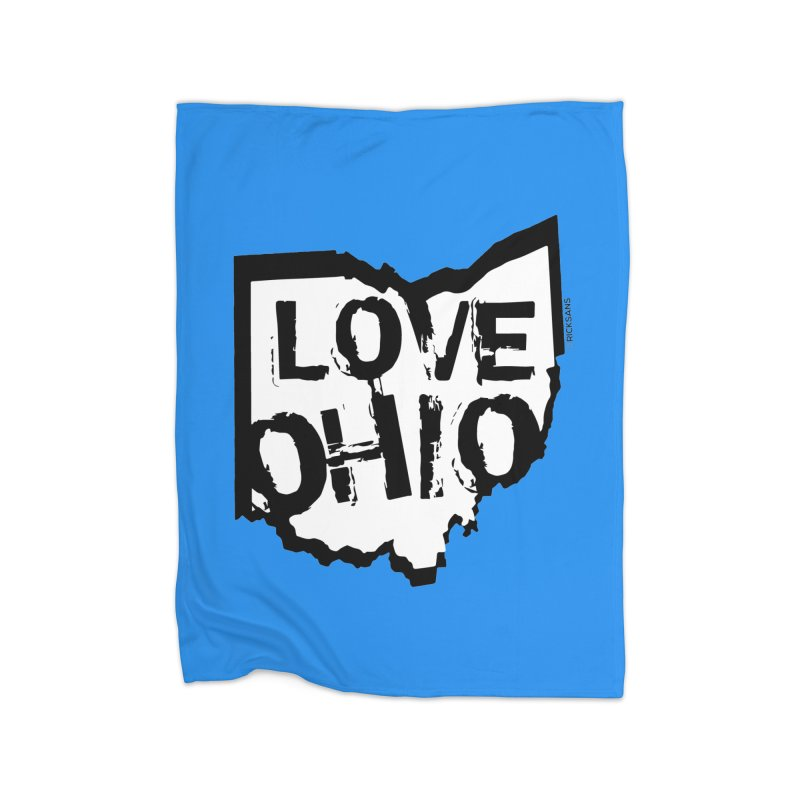Love Ohio Home Fleece Blanket Blanket by Rick Sans' Artist Shop