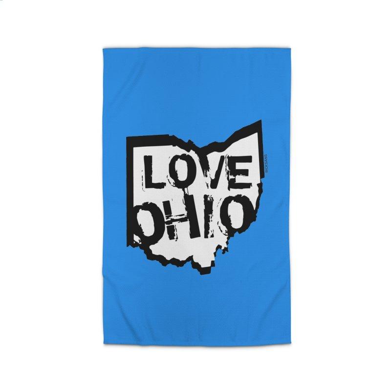 Love Ohio Home Rug by Rick Sans' Artist Shop