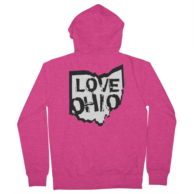 Love Ohio Women's Zip-Up Hoody by Ricksans's Artist Shop