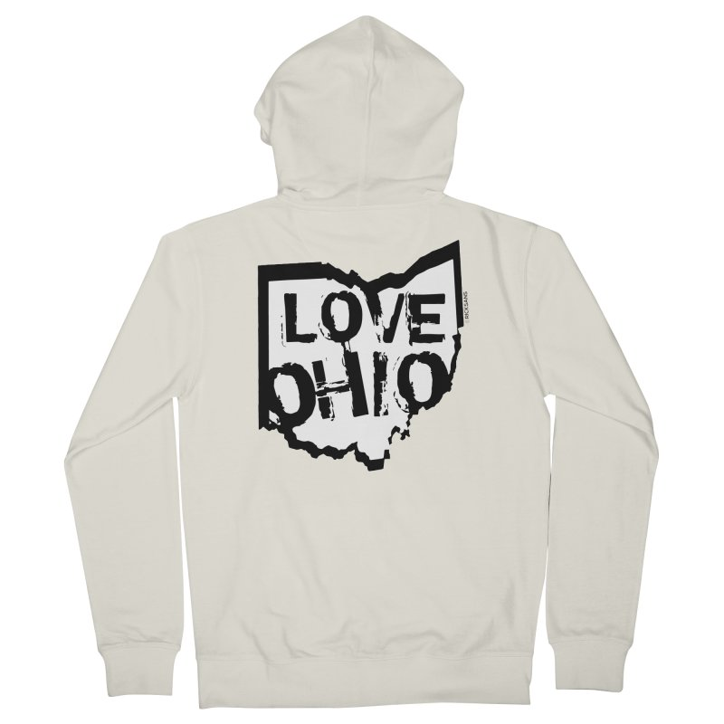 Love Ohio Women's French Terry Zip-Up Hoody by Rick Sans' Artist Shop