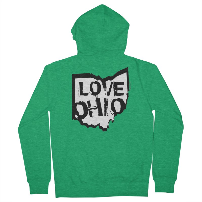 Love Ohio Men's French Terry Zip-Up Hoody by Rick Sans' Artist Shop