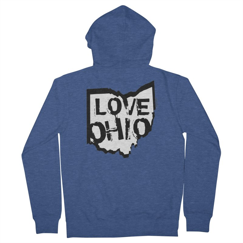 Love Ohio Men's French Terry Zip-Up Hoody by Ricksans's Artist Shop