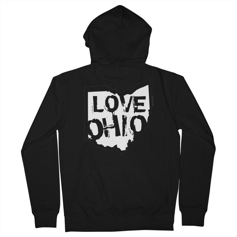 Love Ohio Men's Zip-Up Hoody by Ricksans's Artist Shop