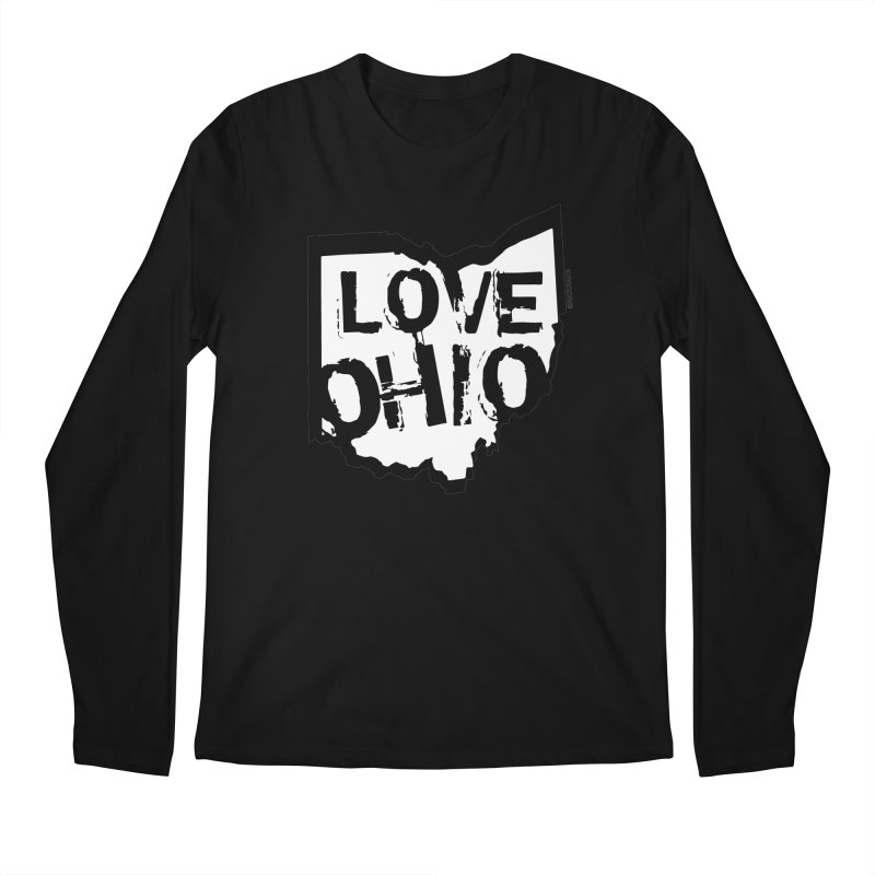 Love Ohio Men's Regular Longsleeve T-Shirt by Rick Sans' Artist Shop