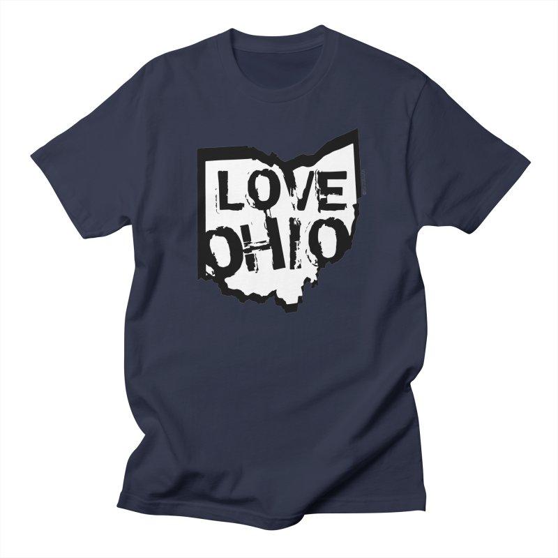 Love Ohio Men's Regular T-Shirt by Rick Sans' Artist Shop
