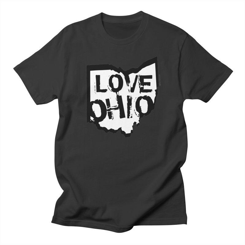 Love Ohio Women's Regular Unisex T-Shirt by Rick Sans' Artist Shop