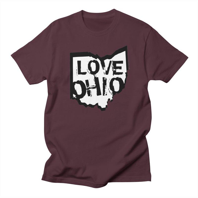 Love Ohio Men's Regular T-Shirt by Ricksans's Artist Shop