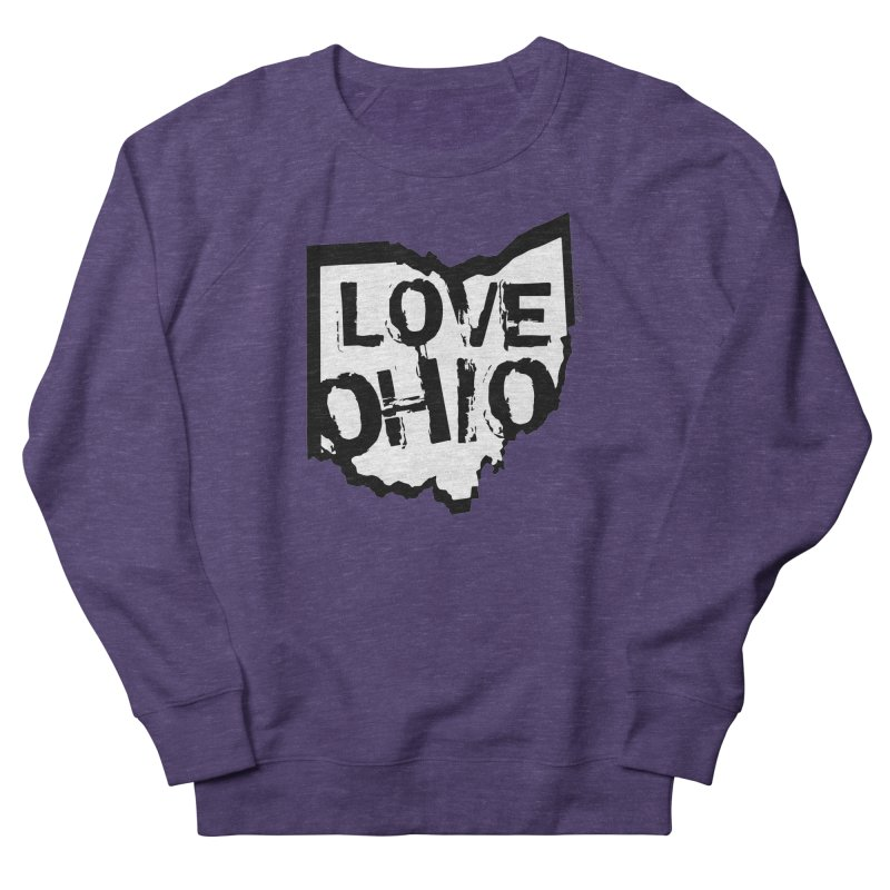 Love Ohio Men's French Terry Sweatshirt by Rick Sans' Artist Shop