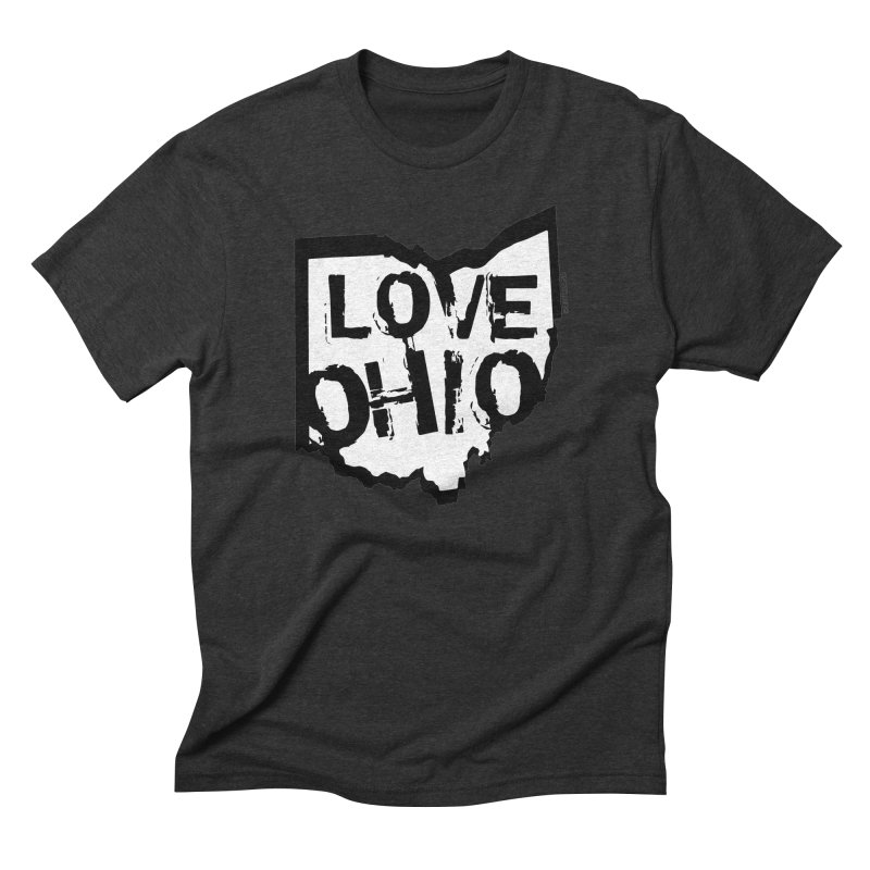 Love Ohio Men's Triblend T-Shirt by Rick Sans' Artist Shop