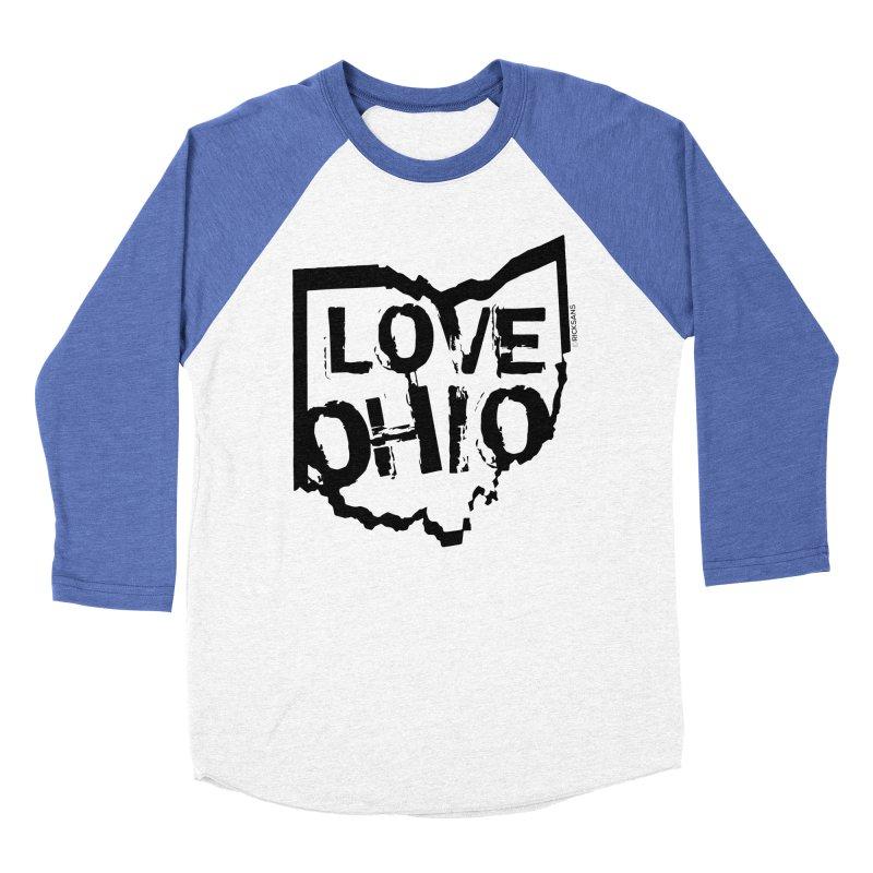 Love Ohio Women's Baseball Triblend Longsleeve T-Shirt by Rick Sans' Artist Shop