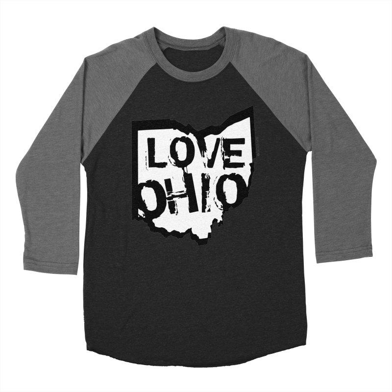 Love Ohio Women's Baseball Triblend T-Shirt by Ricksans's Artist Shop
