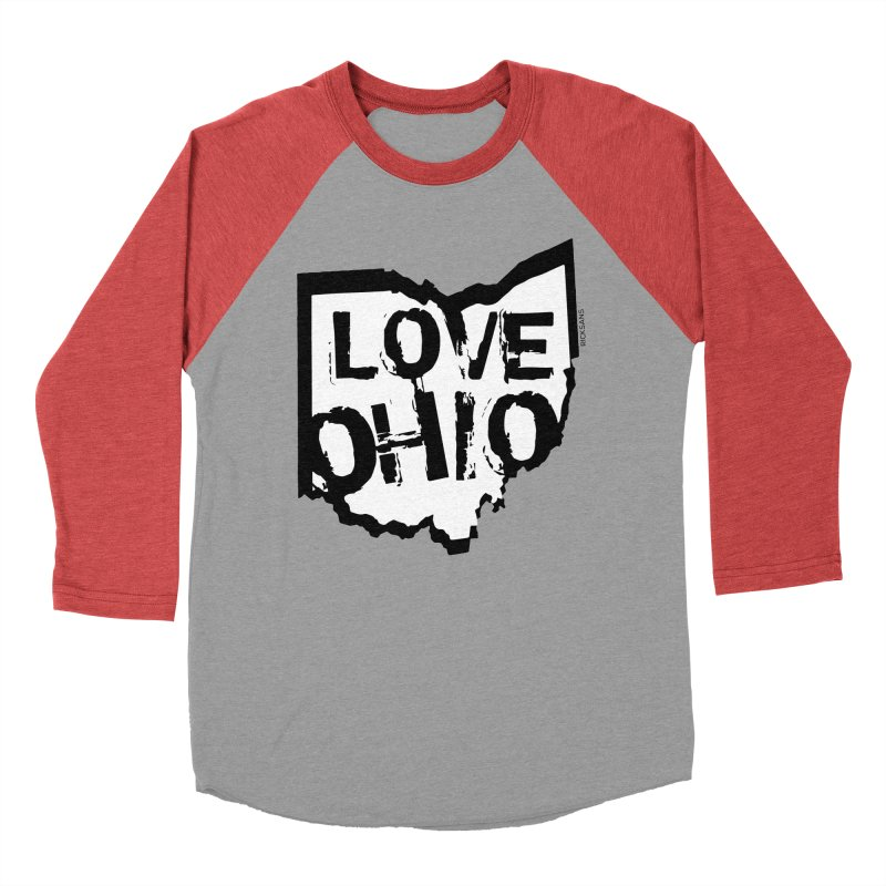 Love Ohio Men's Baseball Triblend T-Shirt by Ricksans's Artist Shop