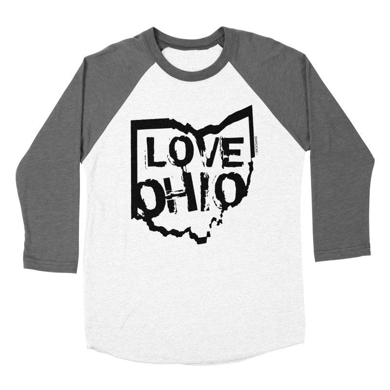 Love Ohio Men's Baseball Triblend T-Shirt by Ricksans's Artist Shop