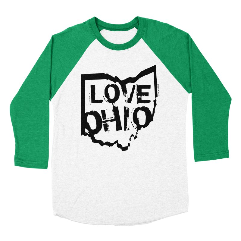 Love Ohio Men's Baseball Triblend Longsleeve T-Shirt by Rick Sans' Artist Shop