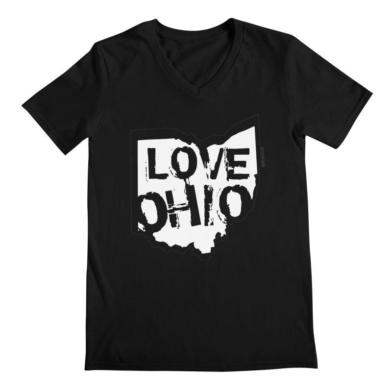 Love Ohio Men's V-Neck by Ricksans's Artist Shop