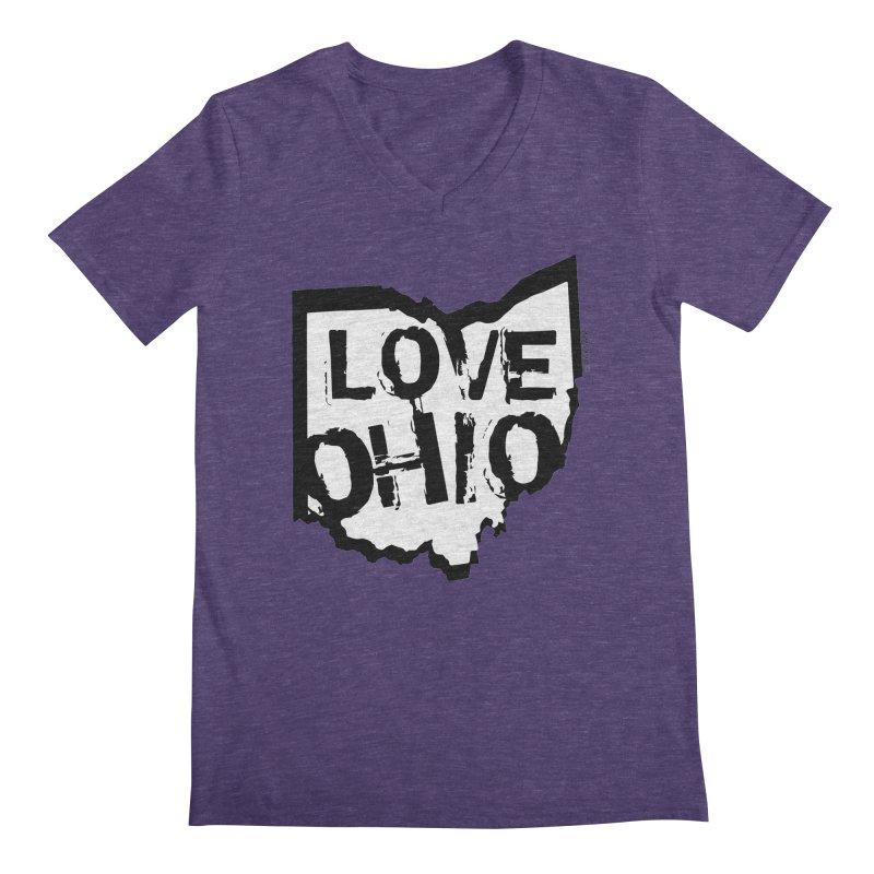 Love Ohio Men's Regular V-Neck by Rick Sans' Artist Shop
