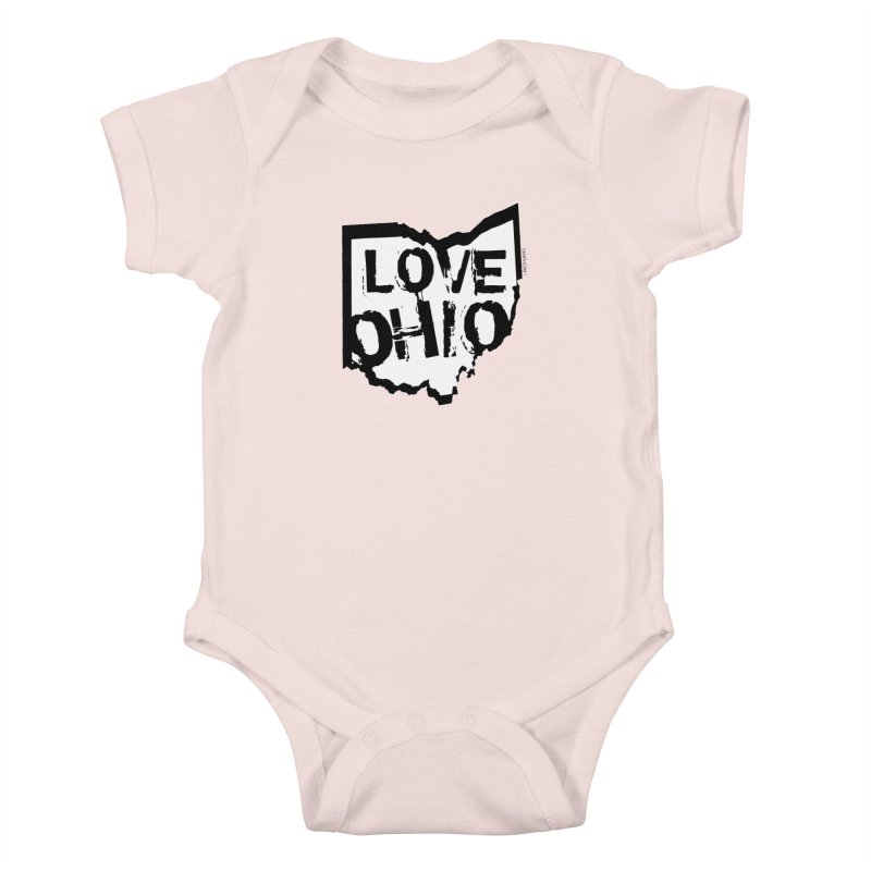 Love Ohio Kids Baby Bodysuit by Ricksans's Artist Shop