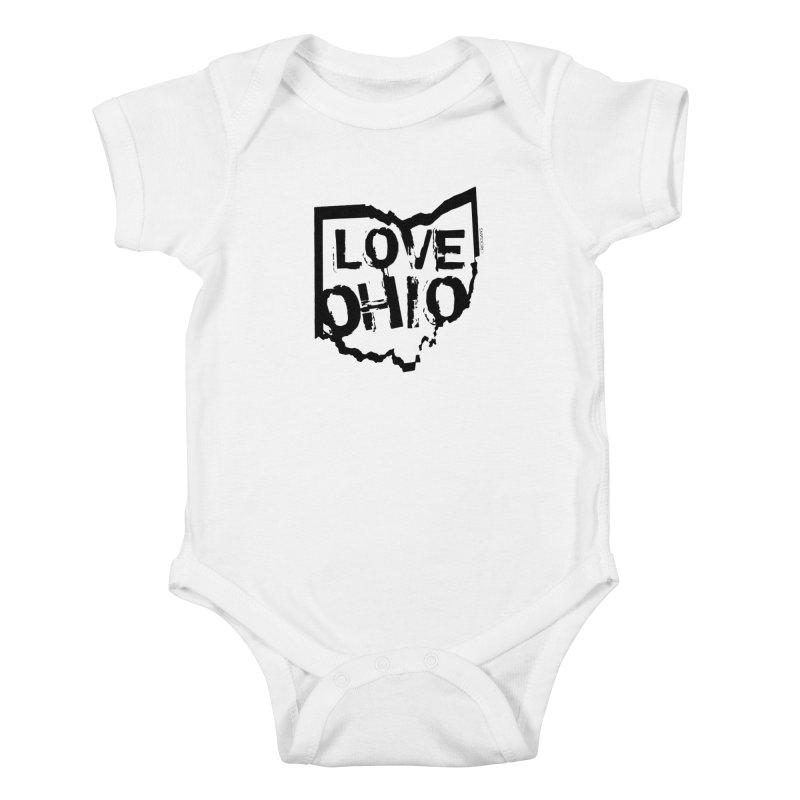 Love Ohio Kids Baby Bodysuit by Rick Sans' Artist Shop