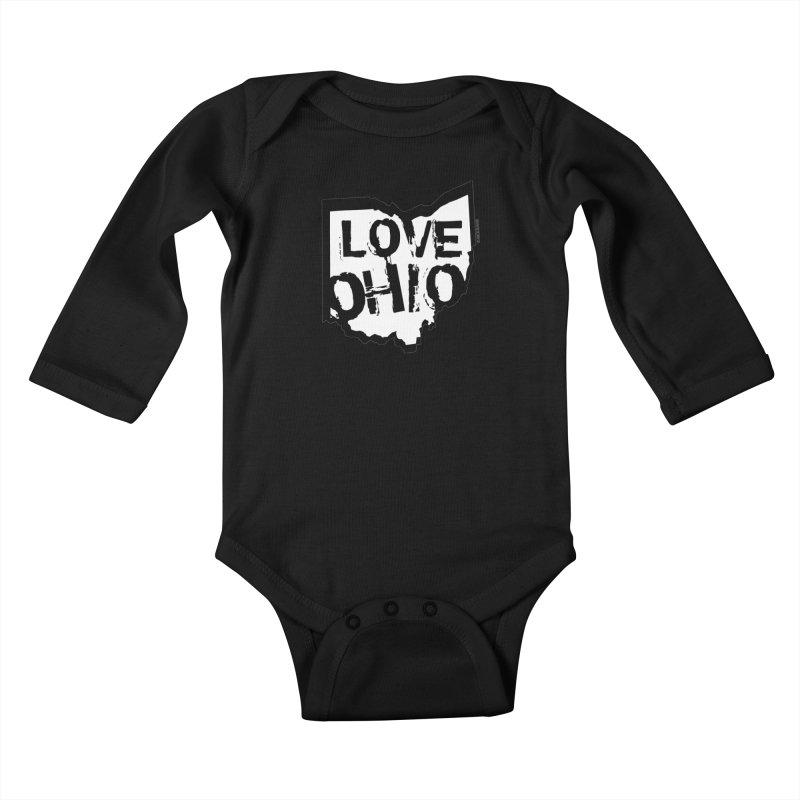 Love Ohio Kids Baby Longsleeve Bodysuit by Rick Sans' Artist Shop