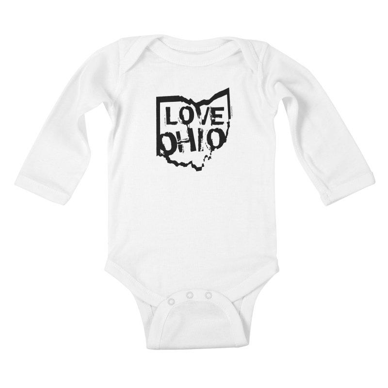 Love Ohio Kids Baby Longsleeve Bodysuit by Ricksans's Artist Shop